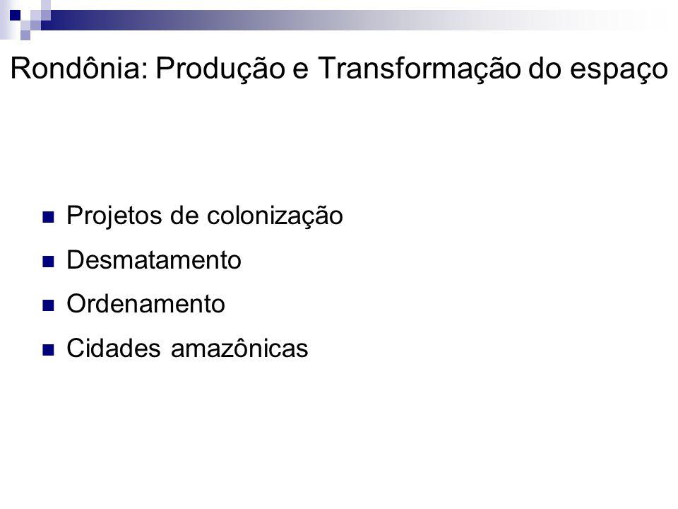 Rondônia: Produção e Transformação do espaço