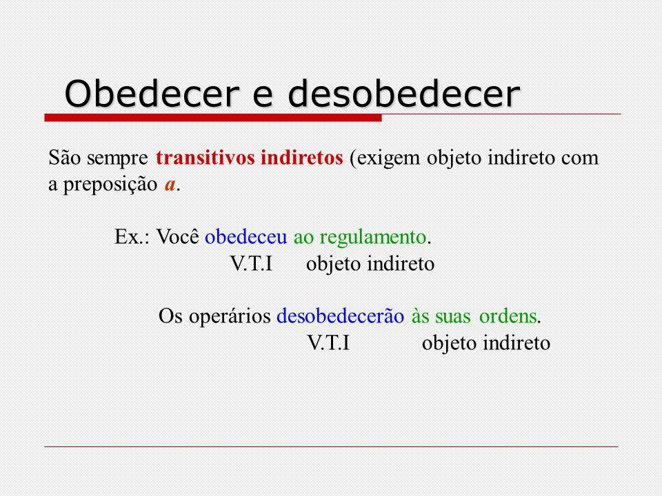 Obedecer e desobedecer
