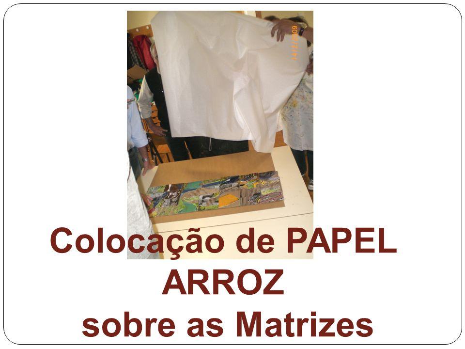 Colocação de PAPEL ARROZ sobre as Matrizes