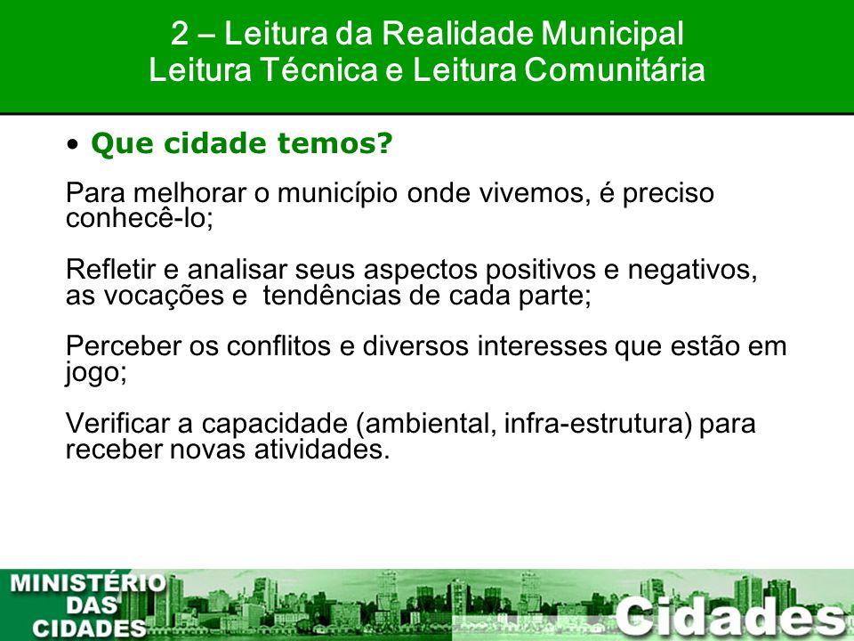 2 – Leitura da Realidade Municipal
