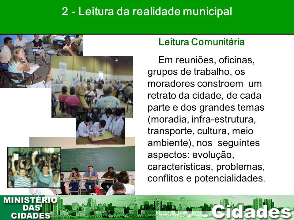 2 - Leitura da realidade municipal PLANEJAMENTO PARTICIPATIVO