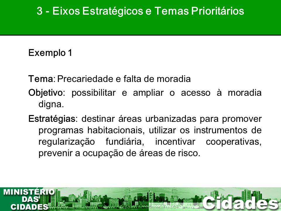 3 - Eixos Estratégicos e Temas Prioritários