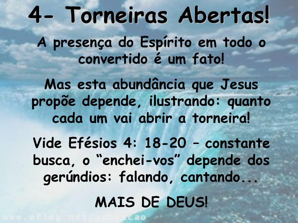 A presença do Espírito em todo o convertido é um fato!
