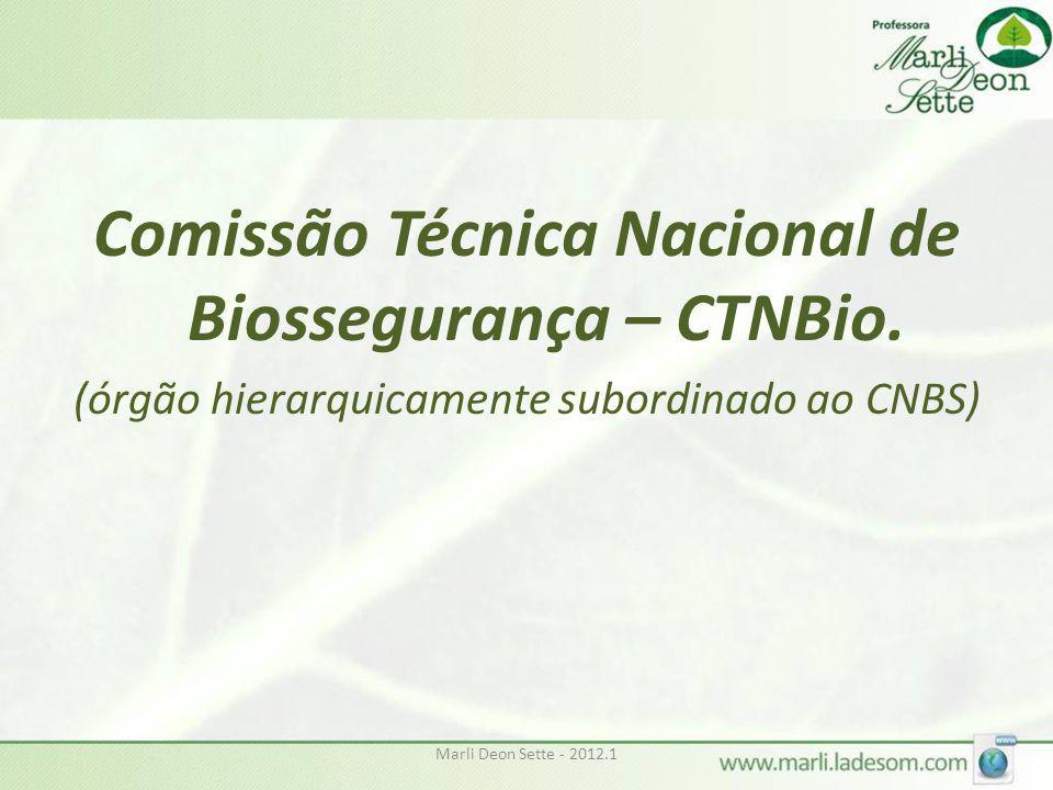 Comissão Técnica Nacional de Biossegurança – CTNBio.