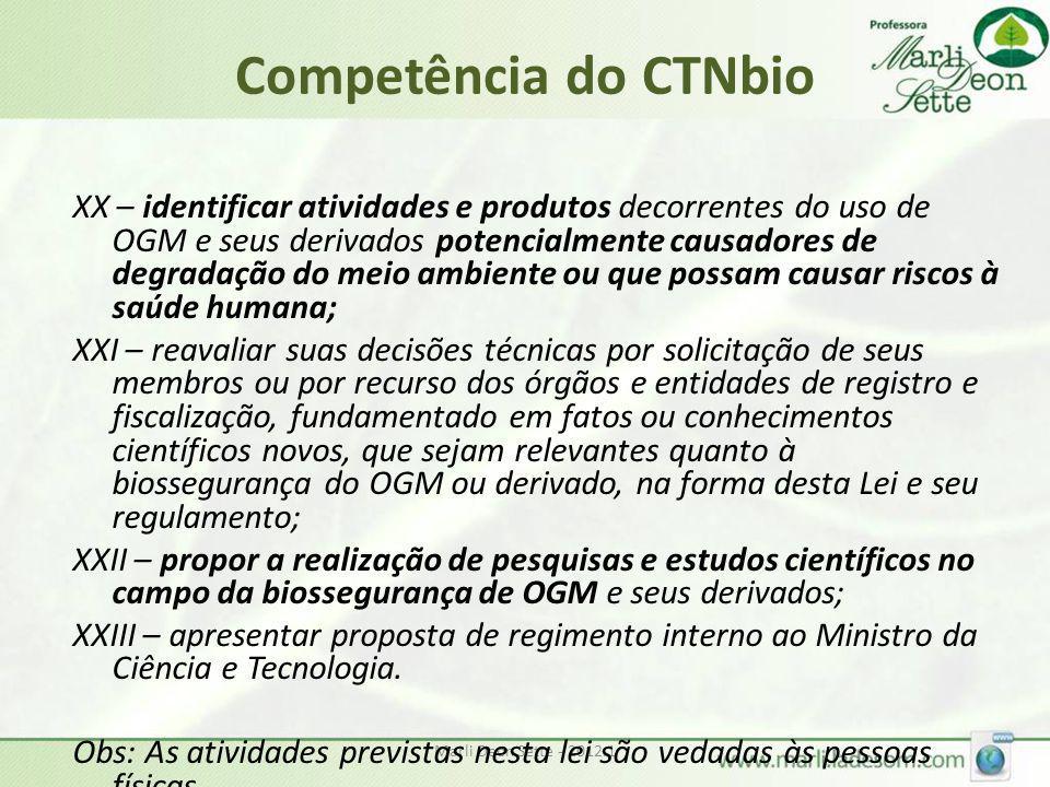 Competência do CTNbio