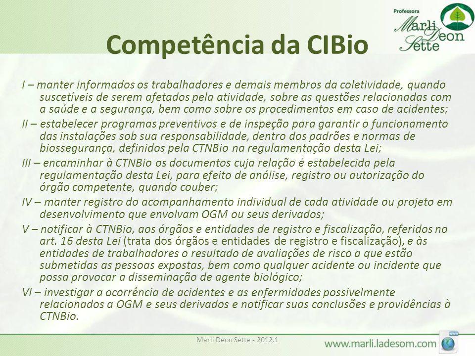 Competência da CIBio