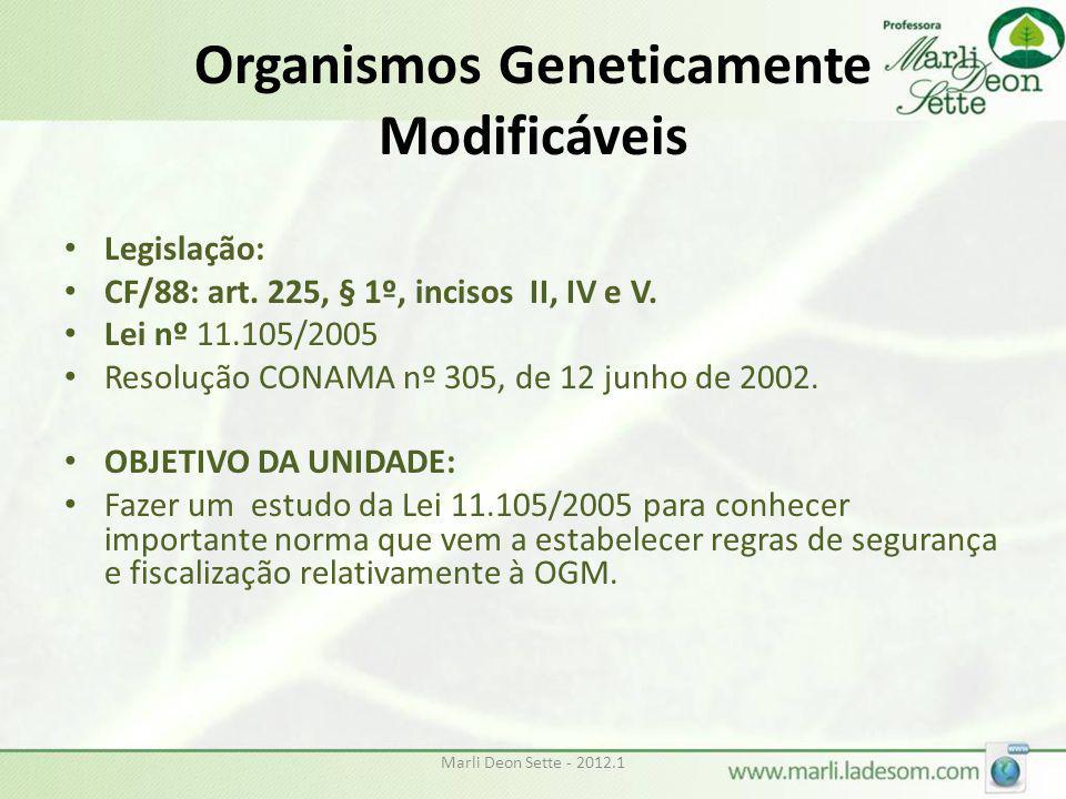 Organismos Geneticamente Modificáveis
