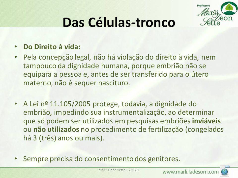 Das Células-tronco Do Direito à vida: