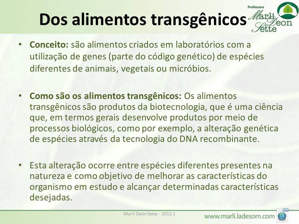 Dos alimentos transgênicos