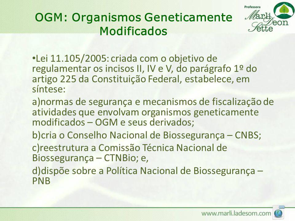 OGM: Organismos Geneticamente Modificados