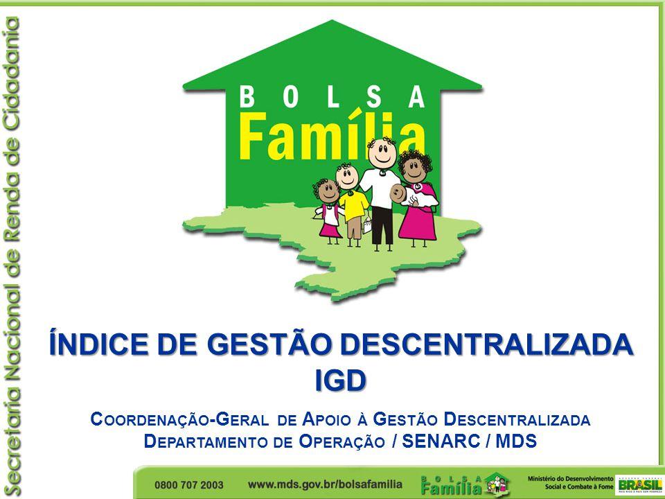 ÍNDICE DE GESTÃO DESCENTRALIZADA IGD