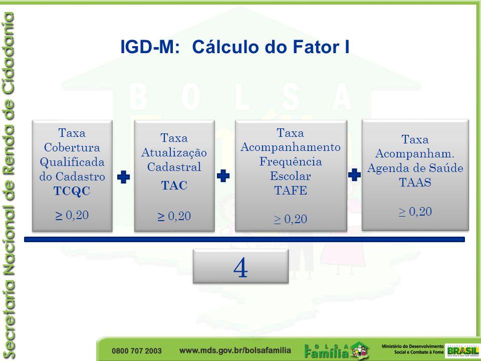 IGD-M: Cálculo do Fator I