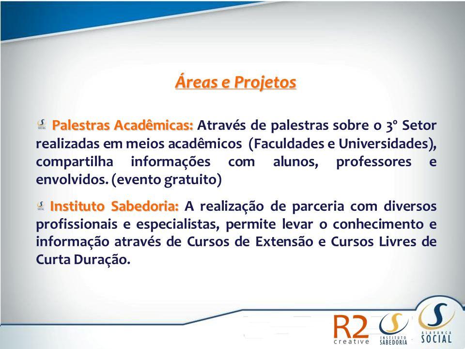 Áreas e Projetos