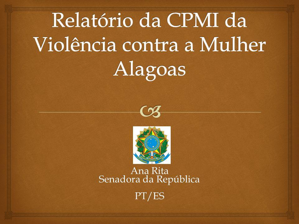 Relatório da CPMI da Violência contra a Mulher Alagoas