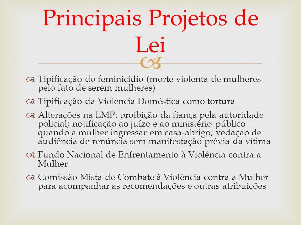 Principais Projetos de Lei