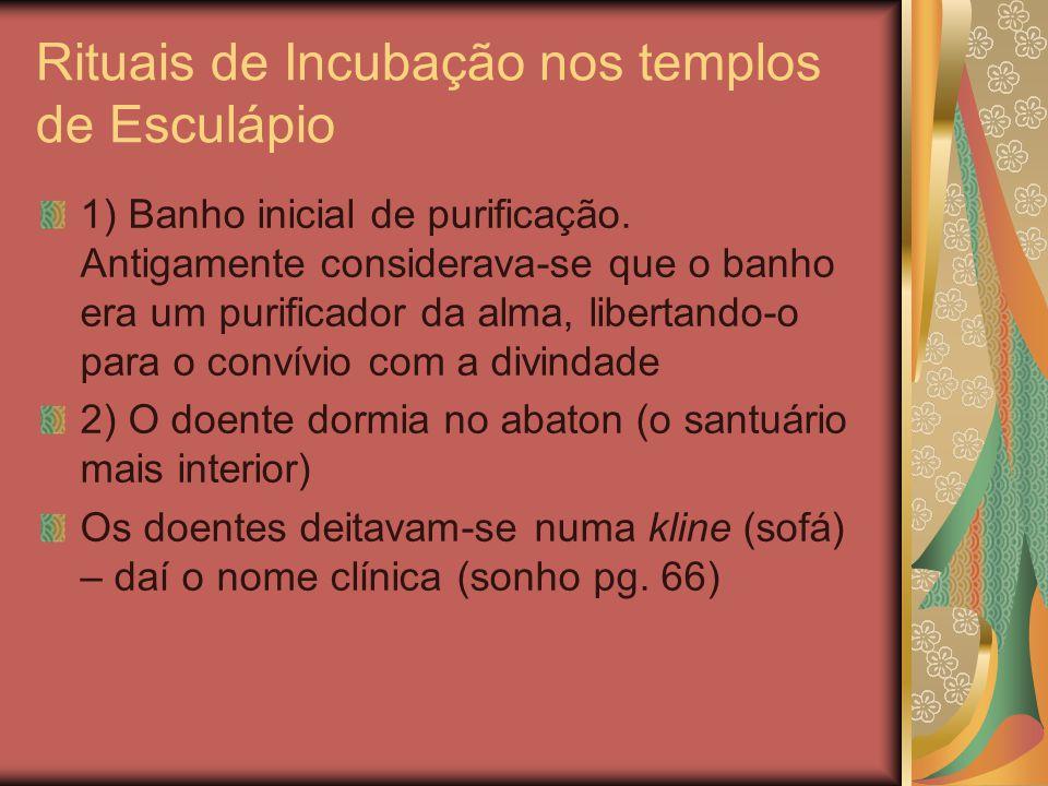 Rituais de Incubação nos templos de Esculápio
