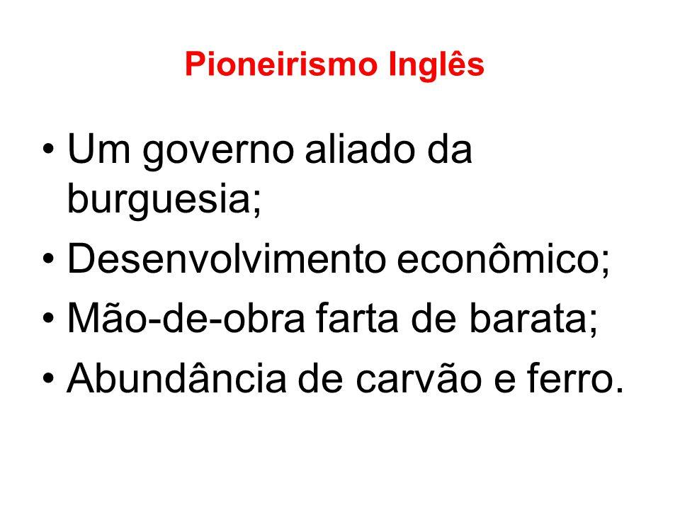 Um governo aliado da burguesia; Desenvolvimento econômico;