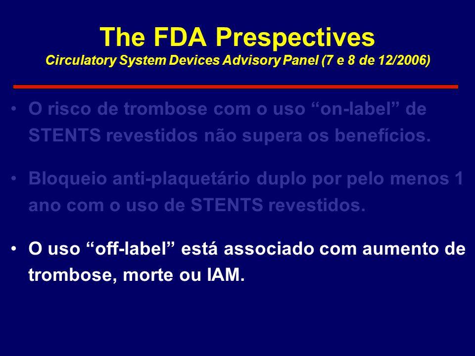The FDA Prespectives Circulatory System Devices Advisory Panel (7 e 8 de 12/2006)