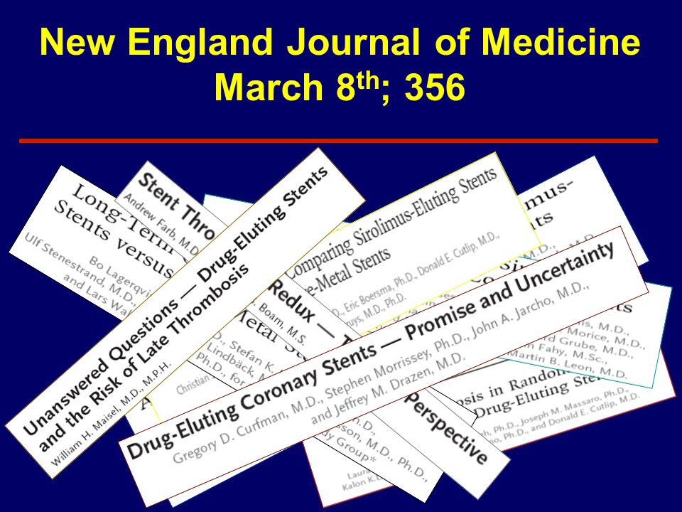 New England Journal of Medicine March 8th; 356