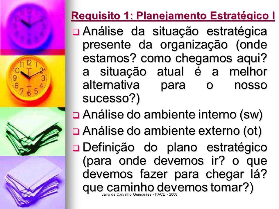 Requisito 1: Planejamento Estratégico I