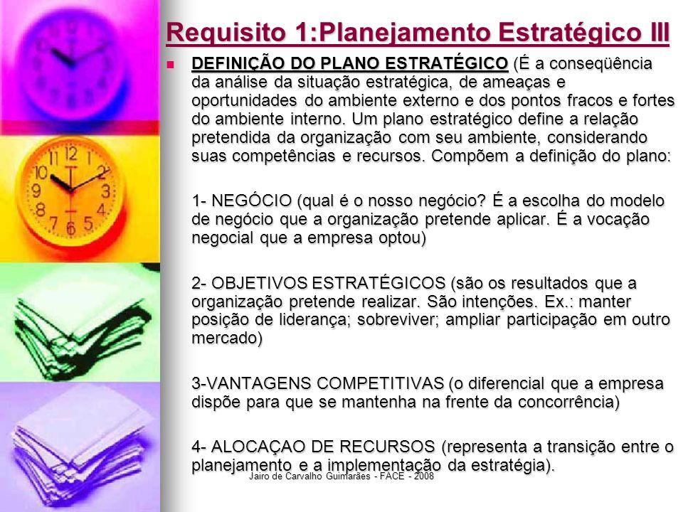Requisito 1:Planejamento Estratégico III