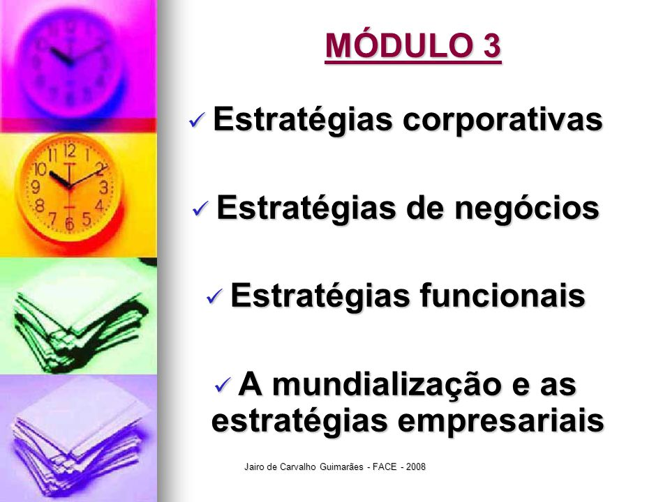 Estratégias corporativas Estratégias de negócios