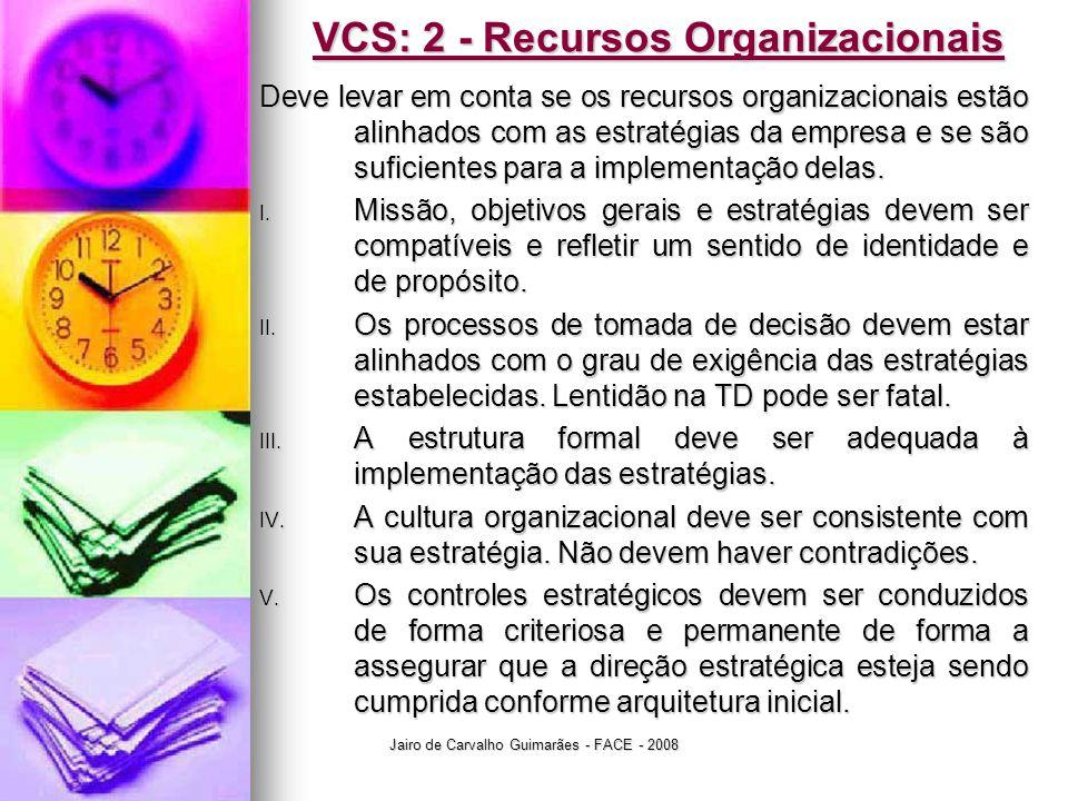 VCS: 2 - Recursos Organizacionais
