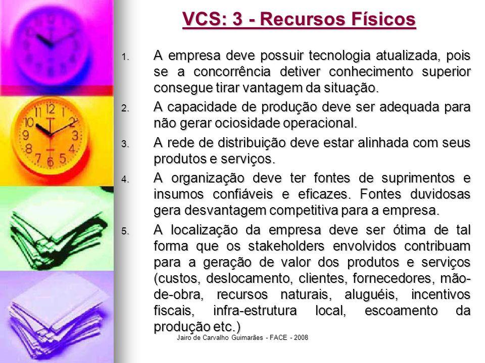 VCS: 3 - Recursos Físicos