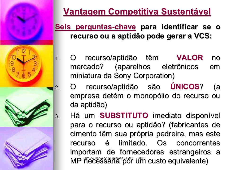 Vantagem Competitiva Sustentável