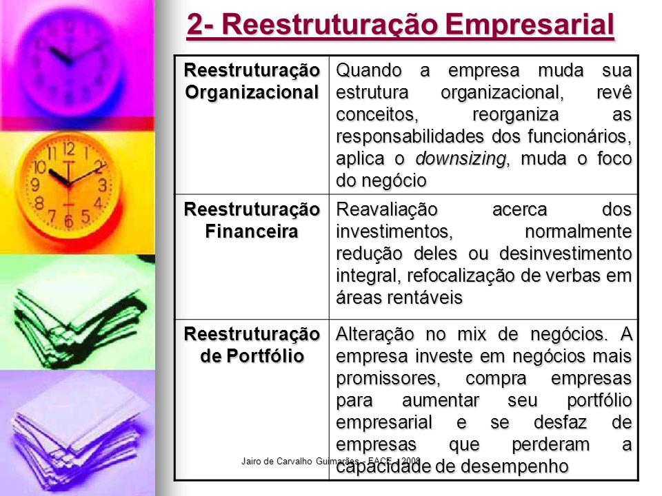 2- Reestruturação Empresarial