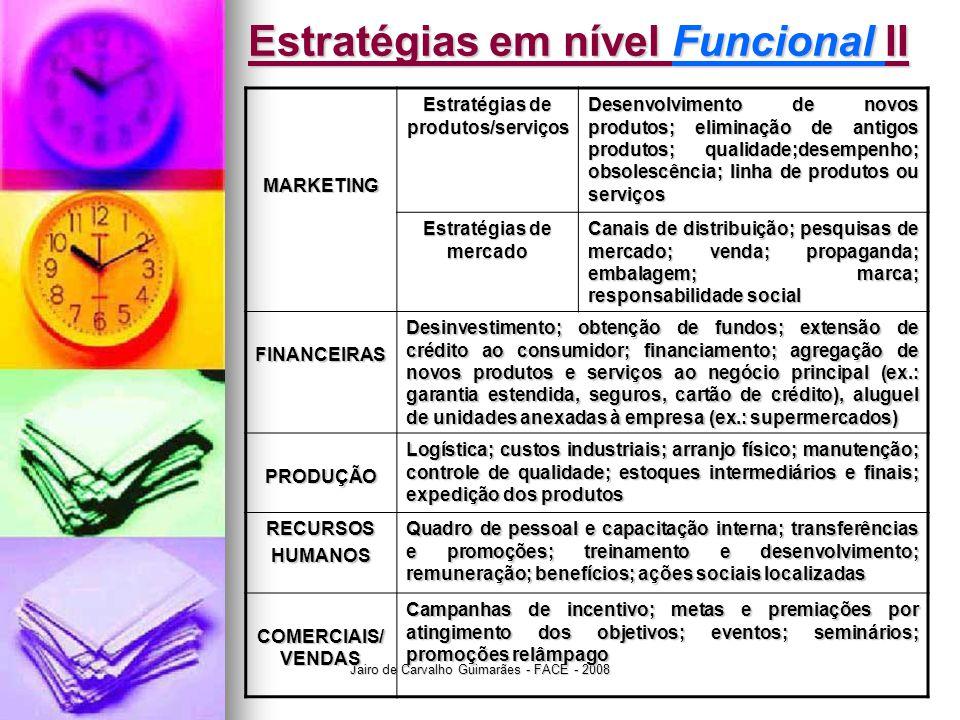 Estratégias em nível Funcional II