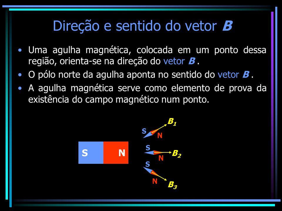 Direção e sentido do vetor B