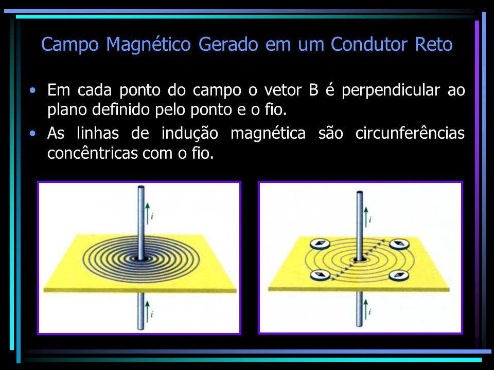 Campo Magnético Gerado em um Condutor Reto