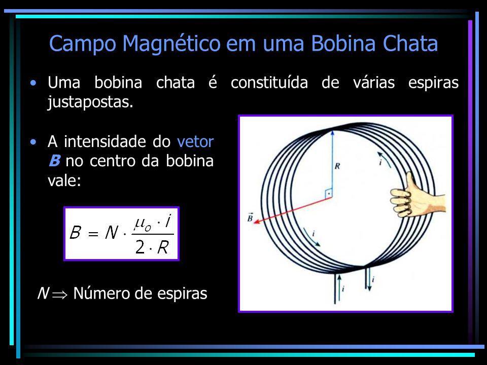Campo Magnético em uma Bobina Chata
