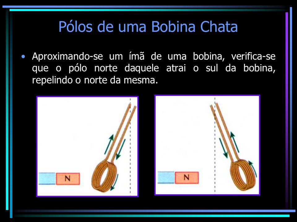 Pólos de uma Bobina Chata