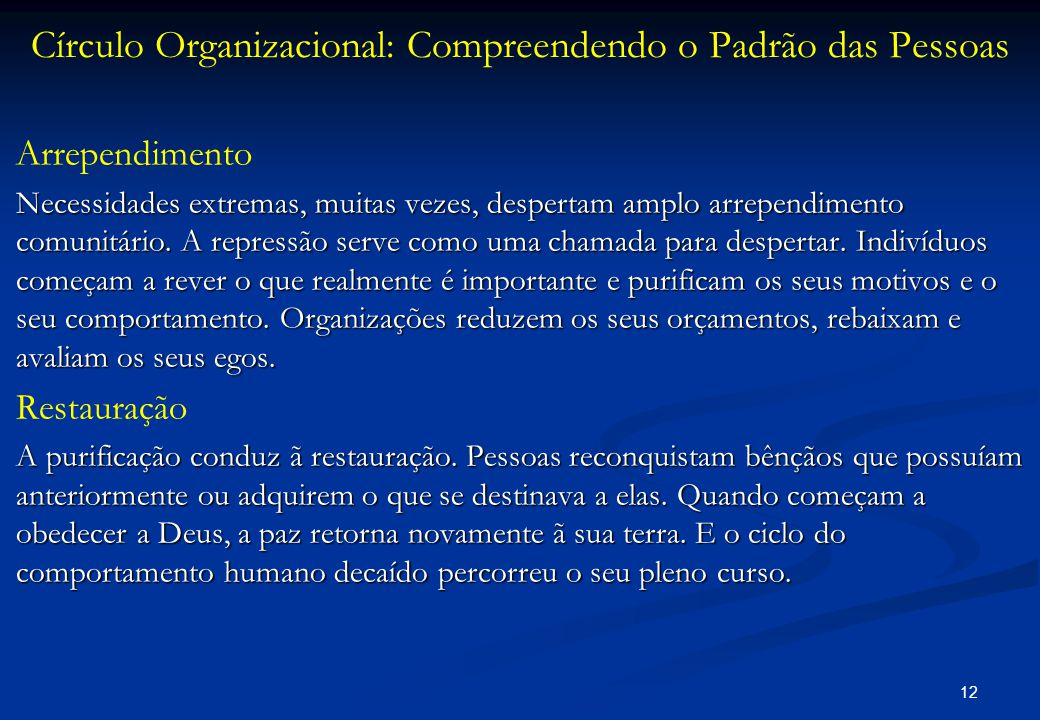 Círculo Organizacional: Compreendendo o Padrão das Pessoas