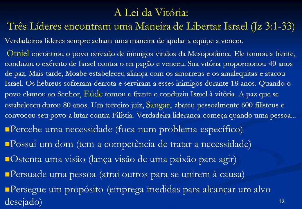 A Lei da Vitória: Três Líderes encontram uma Maneira de Libertar Israel (Jz 3:1-33)