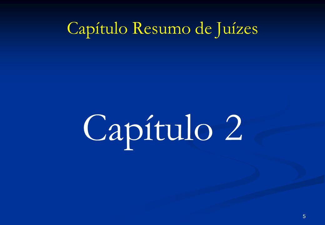 Capítulo Resumo de Juízes