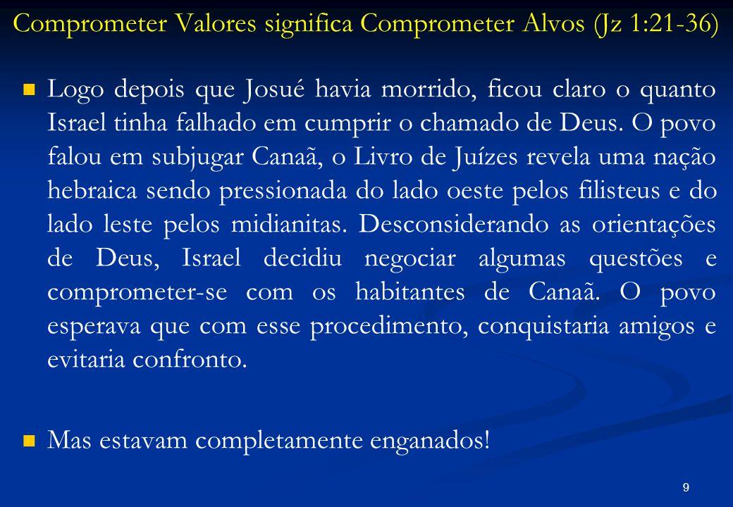 Comprometer Valores significa Comprometer Alvos (Jz 1:21-36)