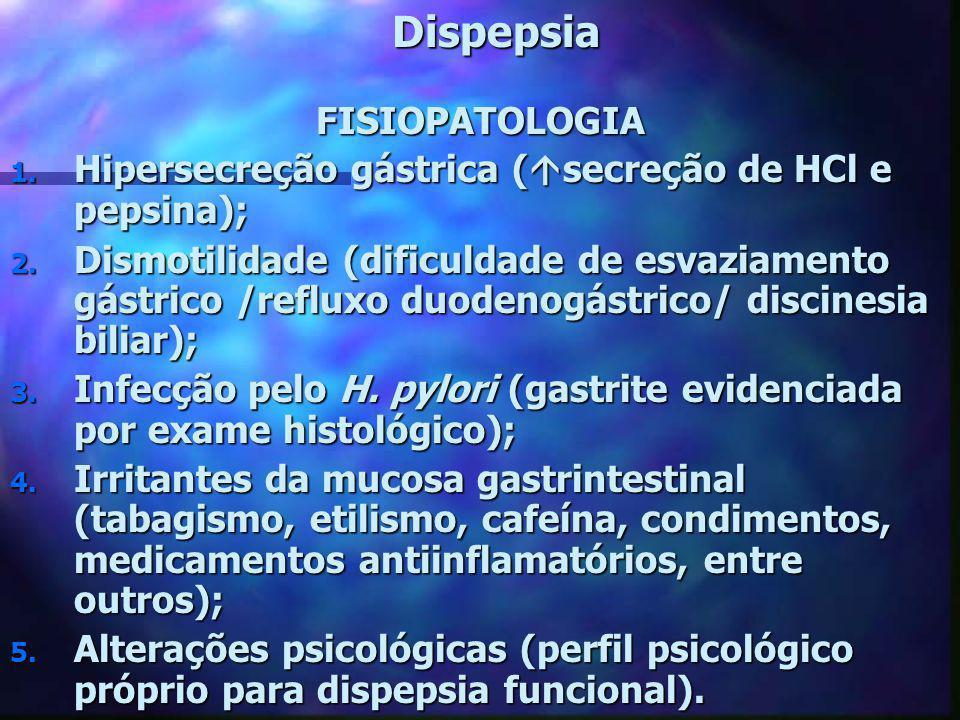 Dispepsia FISIOPATOLOGIA