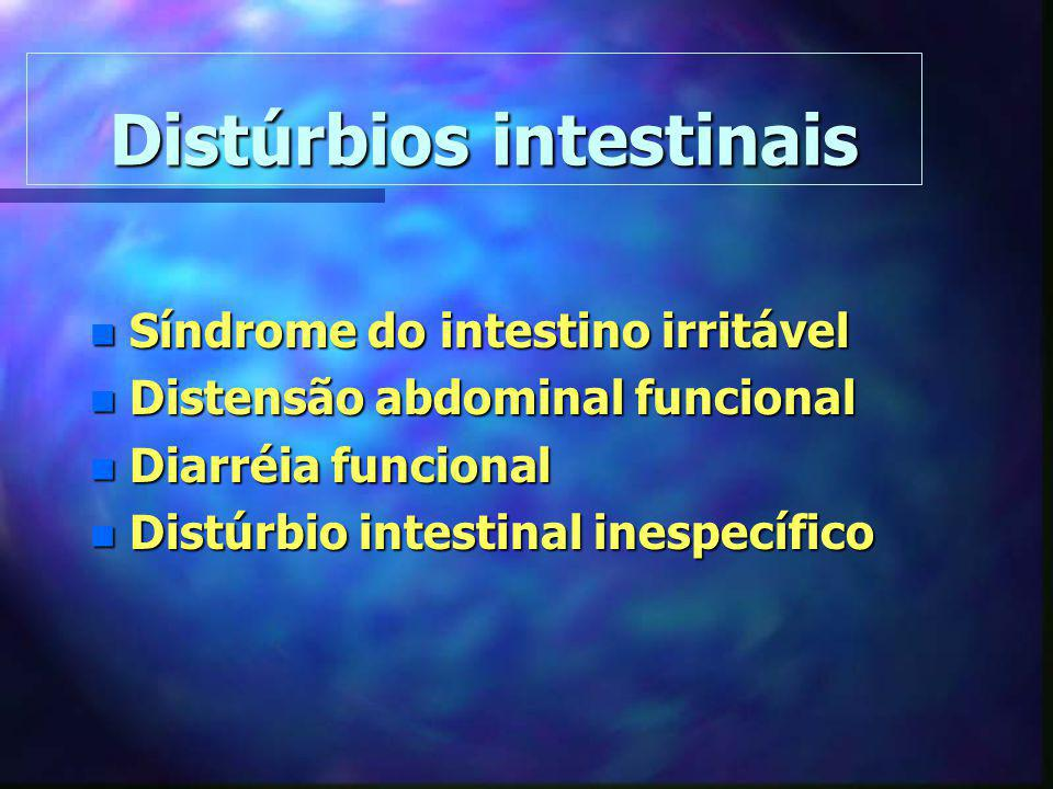 Distúrbios intestinais