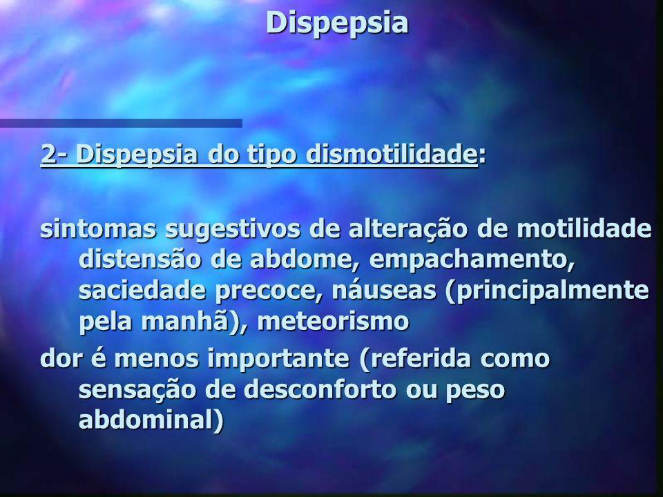 Dispepsia 2- Dispepsia do tipo dismotilidade: