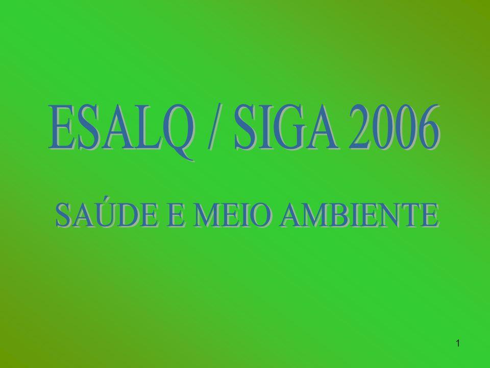 ESALQ / SIGA 2006 SAÚDE E MEIO AMBIENTE