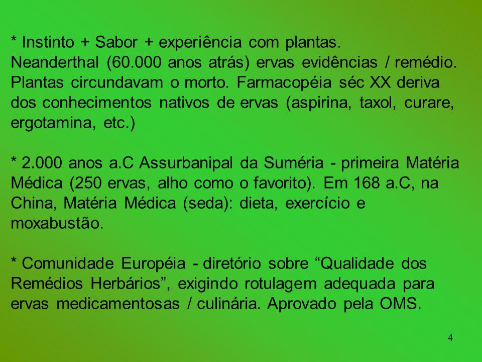 Instinto + Sabor + experiência com plantas. Neanderthal (60