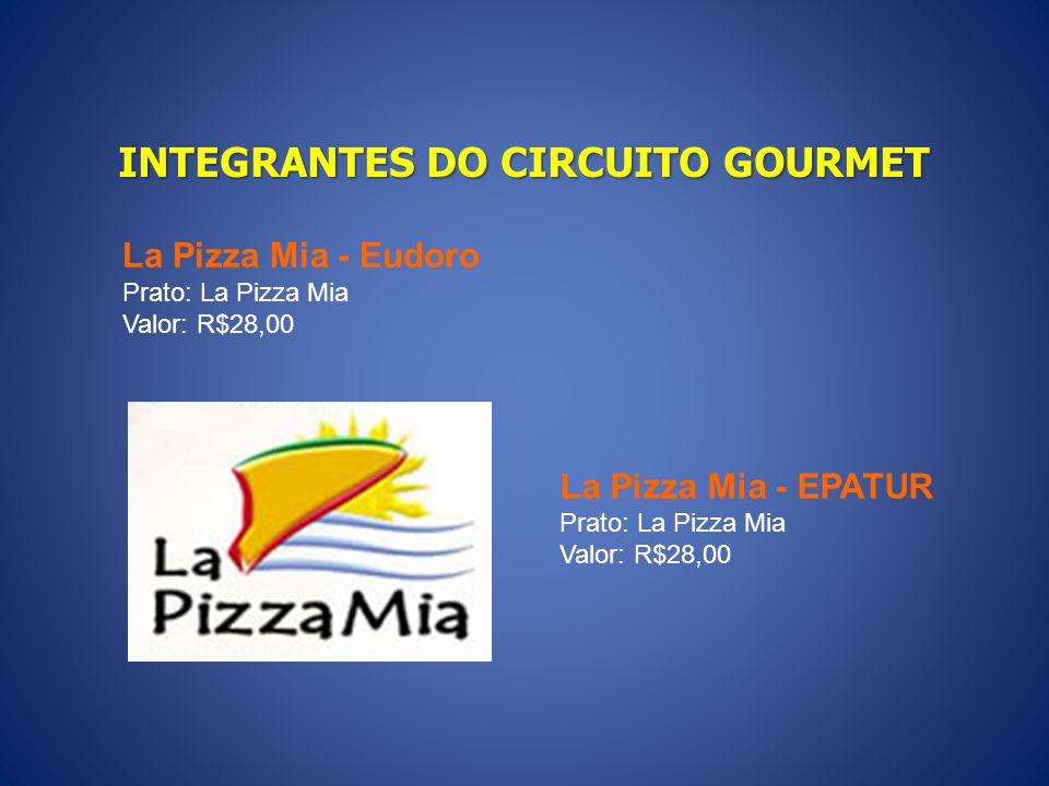 INTEGRANTES DO CIRCUITO GOURMET