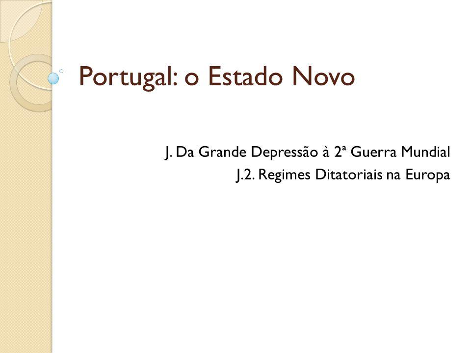 Portugal: o Estado Novo