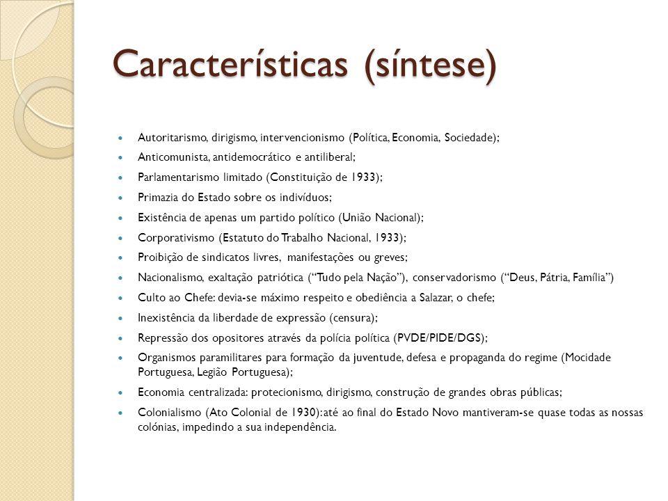 Características (síntese)