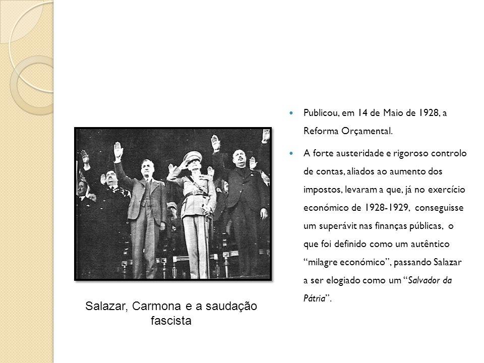 Salazar, Carmona e a saudação fascista