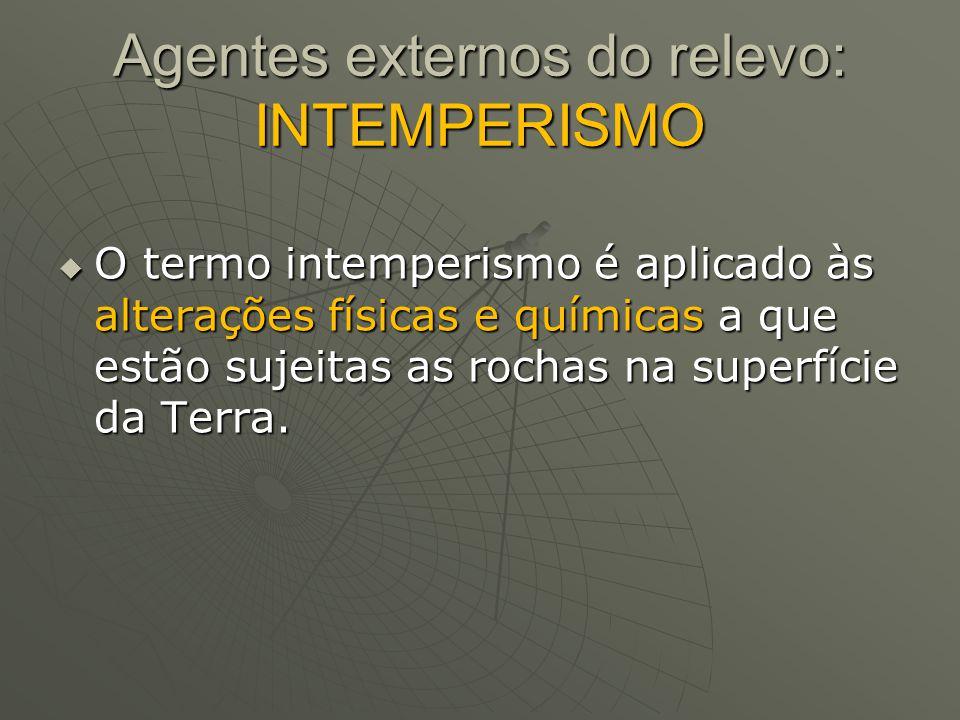 Agentes externos do relevo: INTEMPERISMO