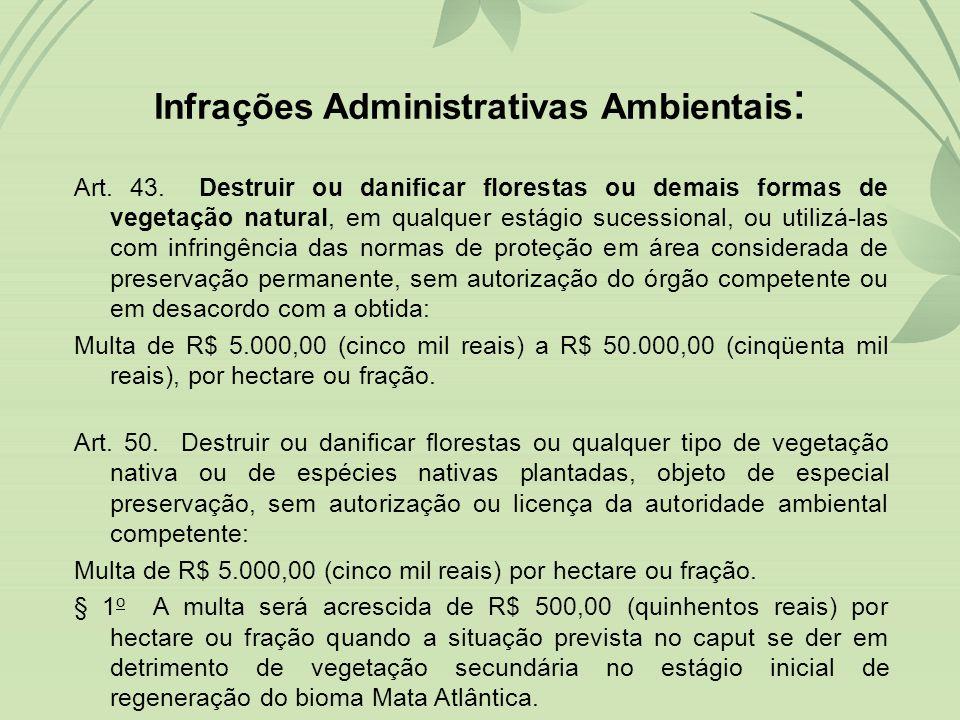 Infrações Administrativas Ambientais: